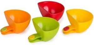 Divinext 4pcs Multi-purpose Mini Kitchen Plate Partners Clip Plastic Bowl