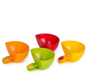Istore 4pcs Multi-purpose Mini Kitchen Condiment Dip Clips Plastic Bowl