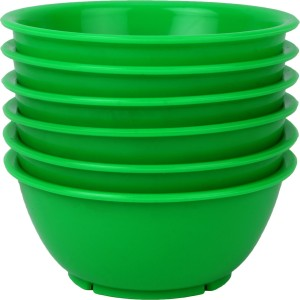 Day2Day Forever Green Microwave Safe Bowls Pack of 6 Plastic Bowl Set