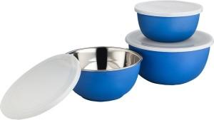 Lavi Microwave safe classic cook & Serve Plastic, Stainless Steel Bowl Set