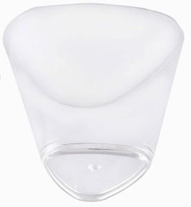 BuyersChowk 160 ml Big Triangular Mousse Plastic Disposable Bowl