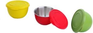Lavi kitchen king Steel, Plastic Bowl Set