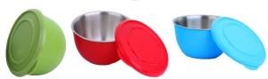 Caryn kitchen king Steel, Plastic Bowl Set