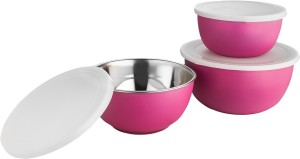 Lavi Microwave safe classic cook & Serve Plastic, Stainless Steel Bowl Set