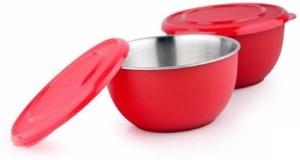 Caryn stainless steel plastic coated bowl set of 2 Plastic, Steel Bowl Set