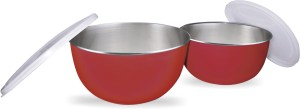 Elegante Stainless Steel, Plastic Bowl Set