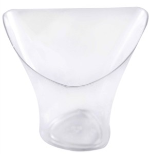 BuyersChowk 150 Ml Twisted Triangle Mousse Plastic Disposable Bowl