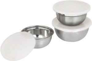 Winsky Healthy & Hygienic Food Storage Serving Or Mixing Stainless Steel Bowl Set