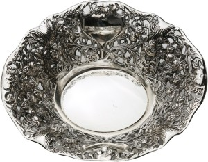 Omkraft German Silver Nickel Bowl