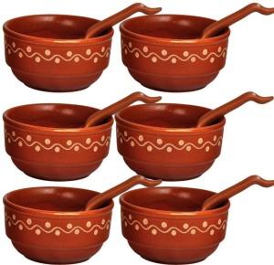 Coolethnic Decorative Set of 6 in Natural Finish Ceramic Bowl Set