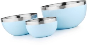 Winsky Healthy & Hygienic Home Food Preparation Grocery Mixing Serving Or Storage Stainless Steel Bowl Set