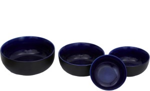 Stonish ceramic/handmade serving bowl in black and blue colour Stoneware Bowl Set