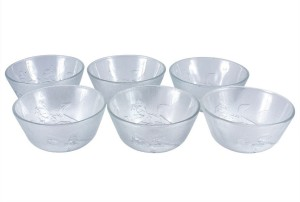 Vola Roosie 6Pcs. (150ml each) Glass Disposable Bowl Set