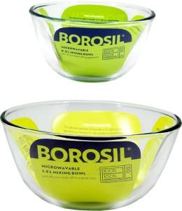 Borosil Kitchen Classic Glass Bowl Set