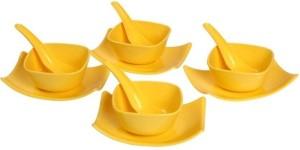 Xudo RICHCRAFT MICROFIBRE BOWL SET(YELLOW) Plastic Disposable Bowl Set