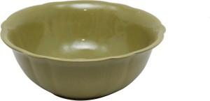 Stonish Ceramic handmade Serving in Royal Olive Green Colour Stoneware Bowl