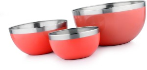 Winsky Shubh Silk Multi-utility Set Of 3 Mixing Storage Or Serving Stainless Steel Bowl Set