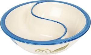 VarEesha Blue Flowers Ceramic Partitioned Serving Dish Ceramic Bowl Set