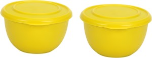 Winsky Healthy & Hygienic Microwave Safe Set Of 2 Cook & Serves Stainless Steel, Plastic Bowl Set