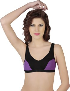 347fdaef473e4 JSR Paris Beauty Sports Women s Sports Purple Black Bra Best Price in India