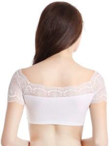 c3454596e7 Samyak Lace blouse cum crop top bra Women s Girl s Bralette White Bra Best  Price in India