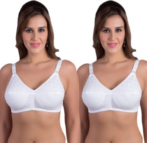 98a056222 Rajnie by Belle Lingeries Plus Size Non Padded Minimizer Combo Pack of 2 Women  s Full Coverage Whi Best Price in India