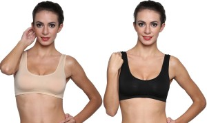 b1844e595 Golden Girl Air Bra-Skn Blk Women s Sports Beige Black Bra Price List