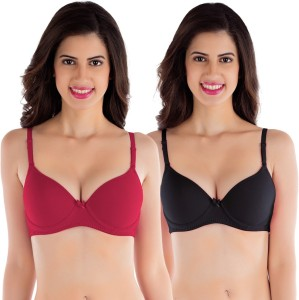 7aa0f484d Tweens by Belle Lingeries Padded Underwire Women s T Shirt Red Bra ...