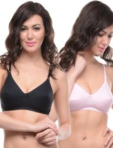 d3f95bcad6c27 Body Care bracomboe1574bpi Women s Full Coverage Black Pink Bra Best ...