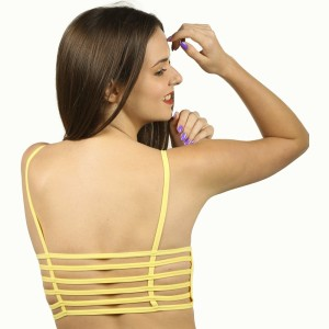 ec5e1883ec0ba2 The Bling Stores Six Strap Cage Back Yellow Crop Top Girl s Women s ...