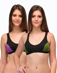 a1be984693 Urbaano Elina Women s Sports Green Purple Bra Best Price in India ...