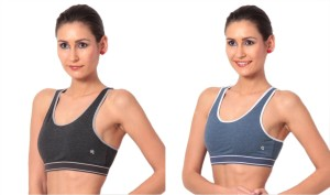 4d5fecaea0e54 Macrowoman Women s Sports Black Blue Bra Best Price in India ...