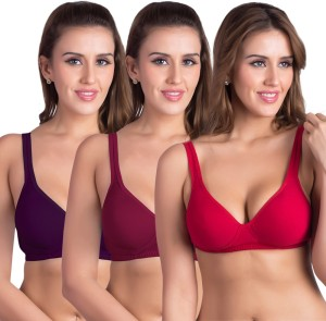 0a23c39d5 Rajnie by Belle Lingeries Plus Size Padded Minimizer Combo of Pack of 3 Women  s Full Coverage Mult Best Price in India