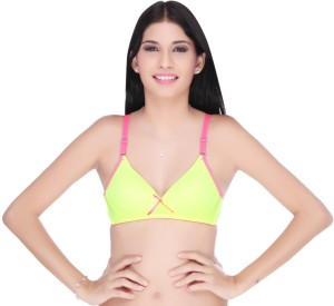 fe7e1a8ffc8bc8 Big Tree by Big Tree Uber Hot Women s Plunge Green Bra Best Price in India