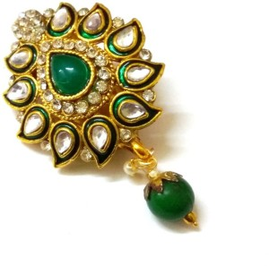 8beccddd3 Vama Fashions Kundan Work Saree Pin Brooch Multicolor Best Price in ...