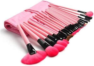 Foolzy 24 Professional Makeup Brush Set with Travel Case