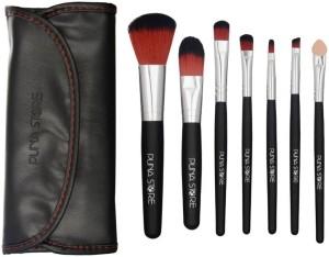 Puna Store 7 Piece Makeup Brush Set with Storage Pouch - Black
