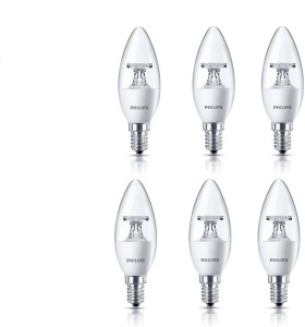 Philips 4 5 W Candle E14 Led Bulbyellow Pack Of 06