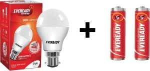 Eveready 9W LED Bulb� Pack of 1 with Free 2 Batteries