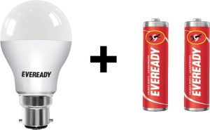 Eveready 7W LED Bulb Pack of 1 with Free 2 Batteries
