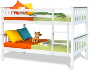 Alex Daisy Winston Solid Wood Bunk Bed Finish Color White Best Price