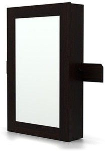 Urban Ladder Ibex Wall Mirror with Storage Solid Wood Wall Mount Cabinet