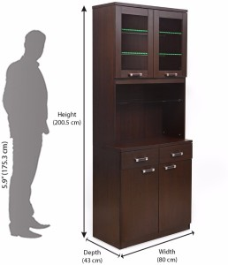 @home by Nilkamal Derval Engineered Wood Free Standing Cabinet