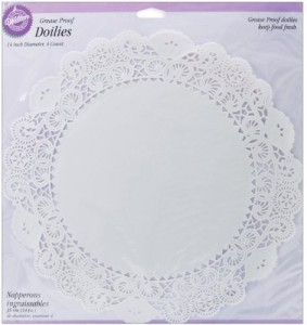 Wilton Grease Proof Doilies Paper Cake Server
