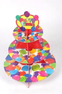 Funcart Colorful Balloons Paper Cake Server
