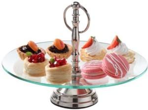 Borosil Glass Cake Server