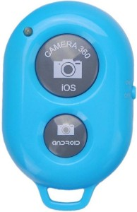 Powerpak Bluetooth Remote Shutter Portable Selfie Clicker for iPhone iPad  Android Samsung Camera Remote ControlBlue