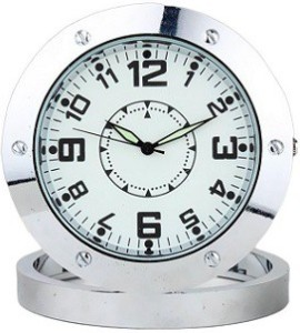 Autosity Detective Security Round-Steel-Table-Clock Clock Spy Product Camcorder