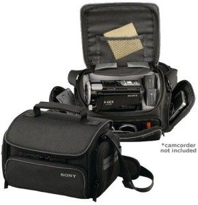 Sony Sony LCS-U20 Soft Carrying Case for Camcorder - Black Camera BagBlack