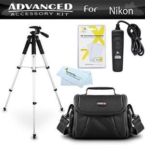 ButterflyPhoto Tripod Bundle Kit For Nikon D7200, Df, D750, D5500, D5300, D3300, D5200, D3200, D5100 D7100 D600 D610 D800 D810 Digital SLR Camera Includes 57 Inch Tripod + Remote Shutter Release + Carrying Case ++  Camera Bag